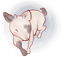 happy little goat by pugboots