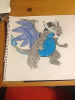 Mega Charizard X and Y Pokemon Drawing by Pika94