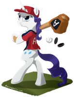 Rarity Baseball by Tetrapony