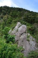 Rock and Forest of Carbet in Martinique by A1Z2E3R