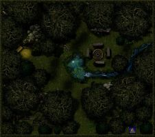 Druid's Grove, Nighttime by Bogie-DJ