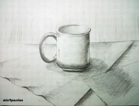 Still Life (Cup on the cloth) by mix4passion