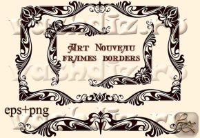 Art Nouveau frames borders LZ 6 by Lyotta