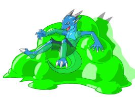 Dragon and Slime by nesise