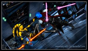The Duel - Lord Stryfe vs Apprentice Neyya by Aphrodite-NS