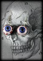 Eyeball  Earrings by NeverlandJewelry