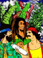 cheech and chong meet marley by scav69gr