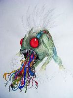 Murloc (in the style of Alex Pardee) by Xanthiya