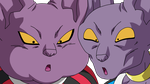 Dragonball Bills und Champa Lineart Farbig by WallpaperZero