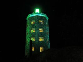 Enger Tower at night by Nipntuck3