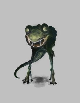 Creature Concept: Frog Monster by copperfly