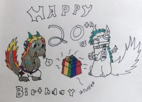 Happy Early 20th Birthday. by Mistress-Fluffeh