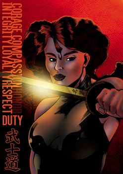 Variant Cover: The flaming woman! by DebhMangas