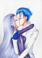 Rider x Lancer - Winter Kiss by Midnight-Dark-Angel