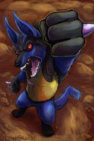 Lucario.PUNCH by guardianofire