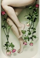 bath of roses by quadratiges