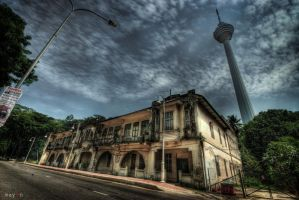 HDR - KL Archaic Shophouses 05 by mayonzz