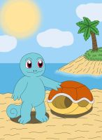 Squirtle without shell by MCsaurus