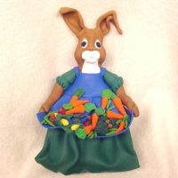 Garden Harvest Bunny sculpture by CreativeCritters