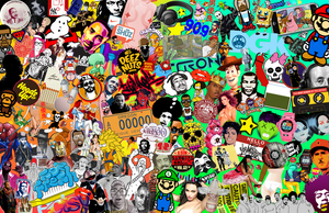 pop art and culture collage by Jeramiah327