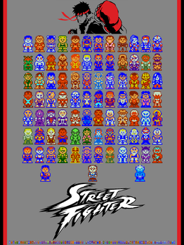 Super Street Fighter Bros 2 Turbo Poster Edition by Captain-Supreme