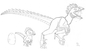 Poultrasaurus Concept Sketch by FiftyFootWhatever