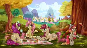 Autumn picnic by Fayven