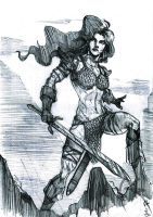 Red Sonja the she-devil by loneHUNGRYwolf