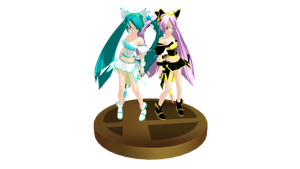 MMD Trophy 32: Fox Miku and Luka by Jaimelynh