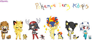 Pokemon Derg adoptables by ShesGotSWAG