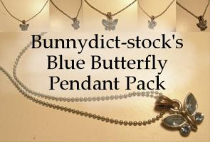 Blue butterfly pendant pack by Bunnydict-stock