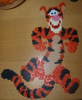 Tigger - Perler or Hama by Chrisbeeblack
