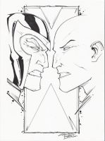 sketchy. Magneto vs Xavier by KidNotorious