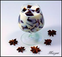 Coffee jelly with milk by Morgaer