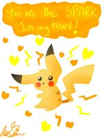 Pikachu loves u by leafeoneve3