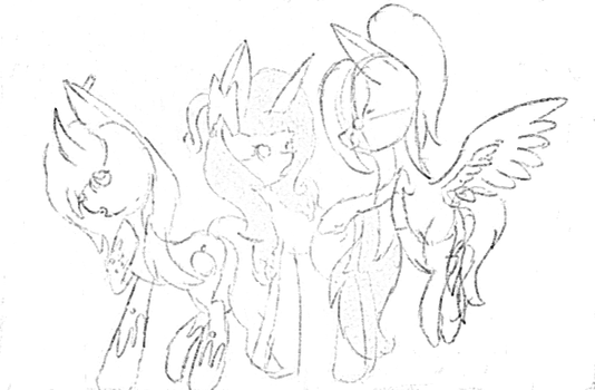 My Youtube OC's  (Sketch) by Bomby64