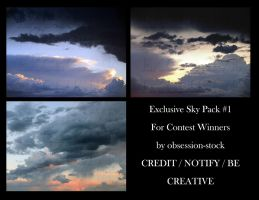 Exclusive Sky Pack #1 by obsession-stock