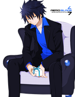 Man in Suit Grey Fullbuster - Fairytail(Colori by aeroblade7