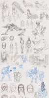 Winter 2009-2010 Sketchdump by The-Alchemists-Muse