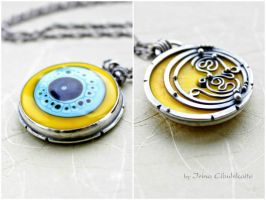 Yellow Planet - Two-sided Pendant by taniri