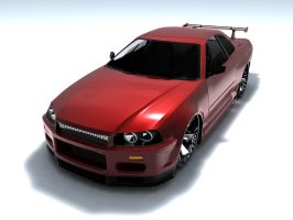 Nissan Skyline R34 GTR by Snipehunter4
