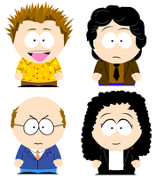 Seinfeld Meets South Park by ironicuncreativity