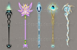Staff designs 26 by Rittik-Designs