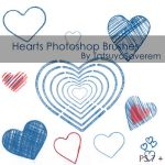 Photoshop Brushes- Hearts by tatsuyasaverem