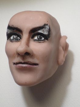 Goblin King head-Extremely Rough Work in Progress by R-Marie