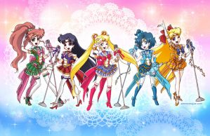 Idol Sailor Moon Inner Senshi by aimeekitty