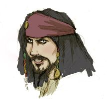 Capt Jack Sparrow by usagistu