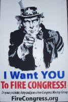 Uncle Sam Protest Poster by Jan3090