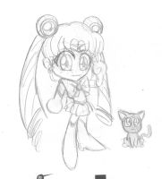 Sketch dump Chibi Sailor Moon by idolnya