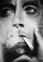 Smokin'  -Robert Downey Jr.- by firexatxwill